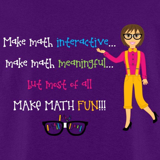Make math... (for dark shirts)