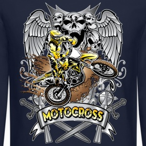 Heraldic Motocross Gold Long Sleeve Shirts - Crewneck Sweatshirt