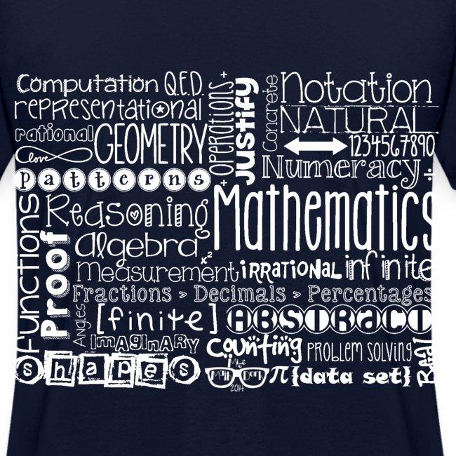 Math Subway Art (white letters)