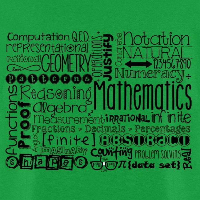 Math Subway Art (black letters)