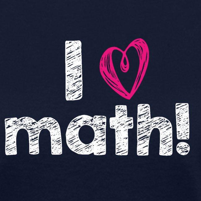I heart math (white letters)