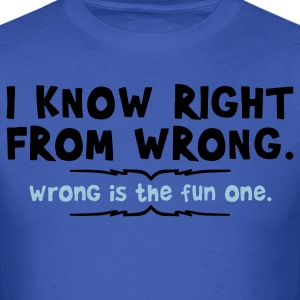right from wrong T-Shirts - Men's T-Shirt