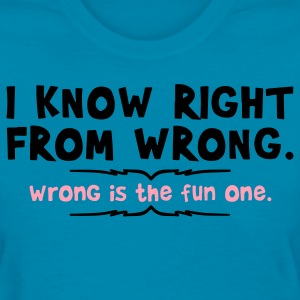 right from wrong Women's T-Shirts - Women's T-Shirt