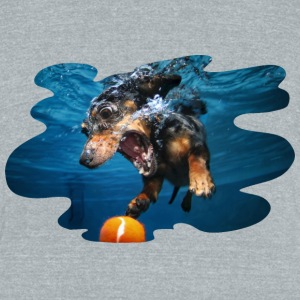 Underwater Dogs Rhoda by Seth Casteel T-Shirts - Unisex Tri-Blend T-Shirt by American Apparel