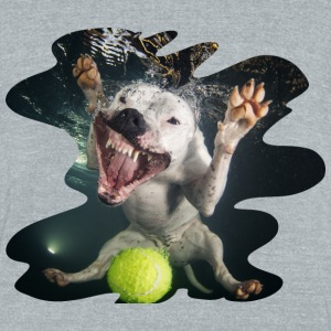 Underwater Dogs Rev by Seth Casteel T-Shirts - Unisex Tri-Blend T-Shirt by American Apparel
