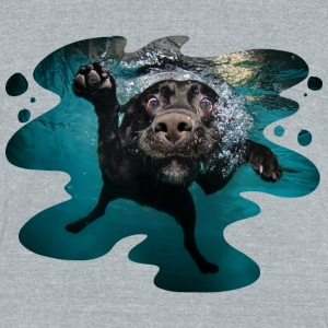 Underwater Dogs Duch by Seth Casteel T-Shirts - Unisex Tri-Blend T-Shirt by American Apparel