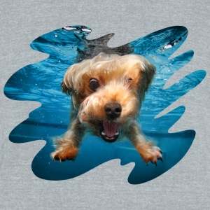 Underwater Dogs Brady by Seth Casteel T-Shirts - Unisex Tri-Blend T-Shirt by American Apparel