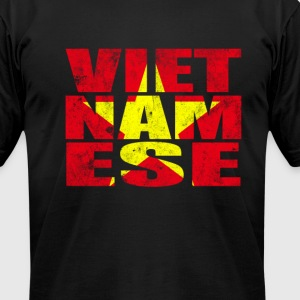 Vietnamese Star T-Shirts - Men's T-Shirt by American Apparel
