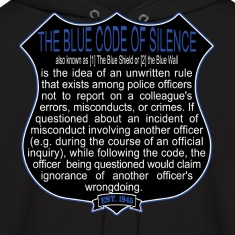 Bad Cops Blue Code of Silence T-Shirt Shield Graph