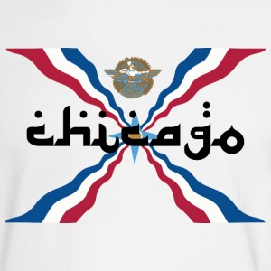 Assyrian Chicago Pride Flag Nationality Shirt Tees Long Sleeve Shirts - Men's Long Sleeve T-Shirt