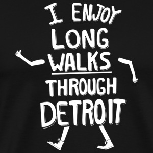Cute Art Long Walks in Detroit Shirts T-Shirts Tee T-Shirts - Men's Premium T-Shirt