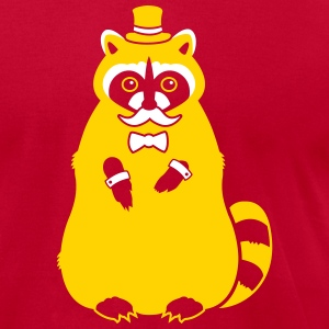 Sir Raccoon T-Shirts - Men's T-Shirt by American Apparel