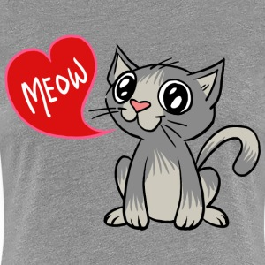 Grey Love Cat  Women's T-Shirts - Women's Premium T-Shirt