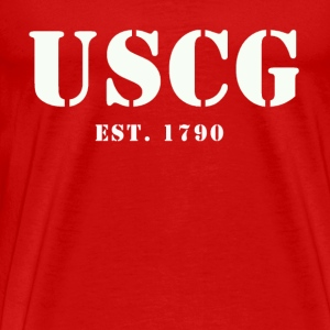 USCG US Coast Guard Shirt - Men's Premium T-Shirt