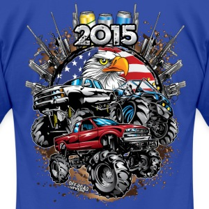 Mega Mud Trucks 2015 T-Shirts - Men's T-Shirt by American Apparel