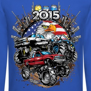 Mega Mud Trucks 2015 Long Sleeve Shirts - Crewneck Sweatshirt
