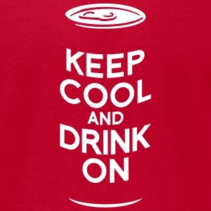 keep cool beer T-Shirts - Men's T-Shirt by American Apparel