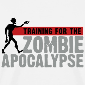 Zombie Apocalypse Gym Motivation T-Shirts - Men's Premium T-Shirt