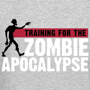 Zombie Apocalypse Gym Motivation Long Sleeve Shirts - Crewneck Sweatshirt