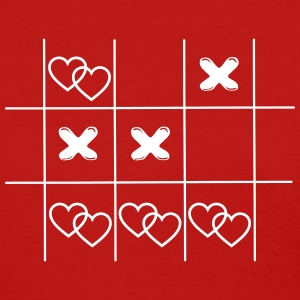 Tic Tac Toe hearts in love game vintage drawing Wo - Women's T-Shirt