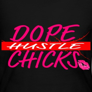 Dope Chicks Hustle Pink Kiss Long Sleeve Shirts - Women's Long Sleeve Jersey T-Shirt