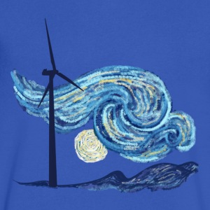 Windy Windy Night T-Shirts - Men's V-Neck T-Shirt by Canvas