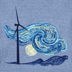 Windy Windy Night T-Shirts - Unisex Tri-Blend T-Shirt by American Apparel