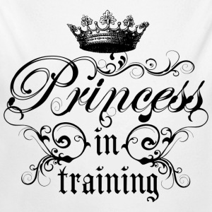 Princess In Training - Long Sleeve Baby Bodysuit