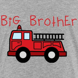 Big Brother Fire Truck Shirt - Toddler Premium T-Shirt