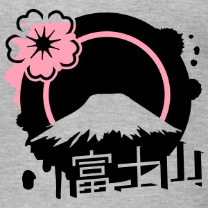 Fujiyama with cherry blossom T-Shirts - Men's T-Shirt by American Apparel