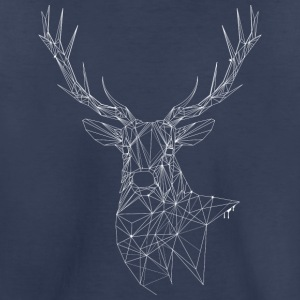 Deer with magnificent antlers of fine lines Kids' Shirts - Kids' Premium T-Shirt