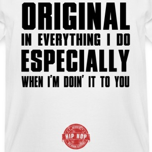 ORIGINAL BLACK HIP HOP LYRICS T-Shirts - Men's Tall T-Shirt