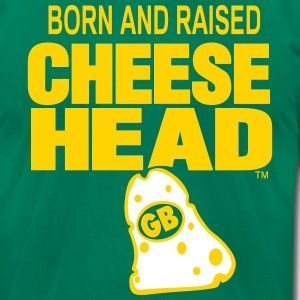 Born And Raised Cheesehead - Men's T-Shirt by American Apparel