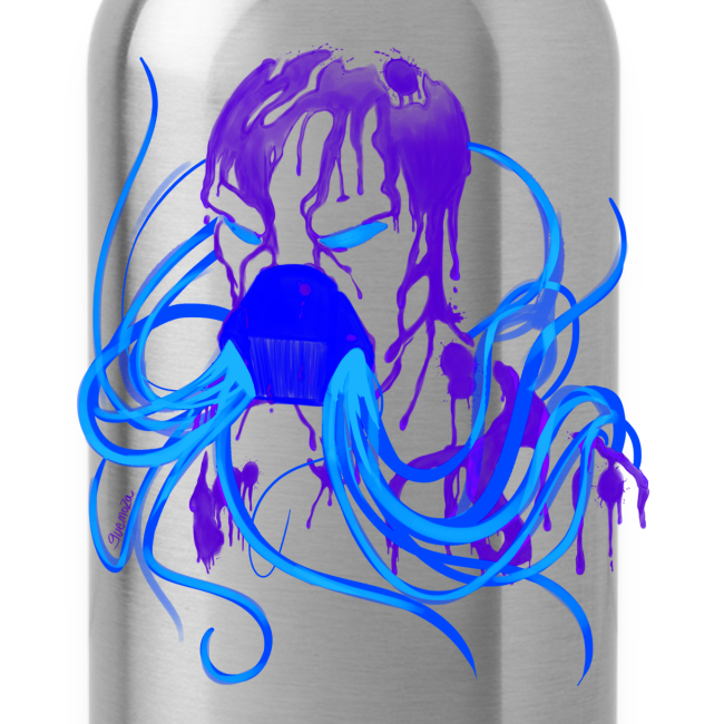 MrCreepyPasta Blue Blood Waterbottle