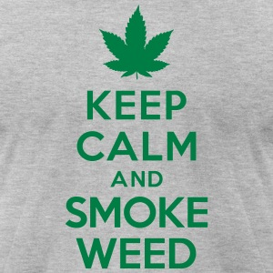 Keep calm and smoke weed T-Shirts - Men's T-Shirt by American Apparel