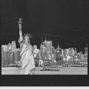 Statue of Liberty New York City Skyline - Tote Bag