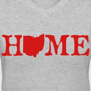 HOME - Ohio Women's T-Shirts - Women's V-Neck T-Shirt