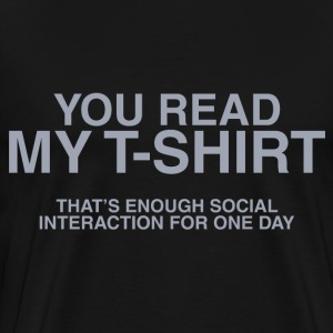 Social Interaction - Men's Premium T-Shirt