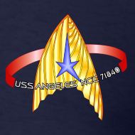 Design ~ Men's Standard T-shirt (new USS Angeles mission logo on back)