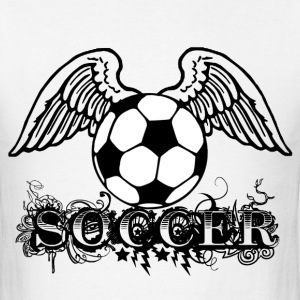 Soccer ball with Wings T-Shirts - Men's T-Shirt