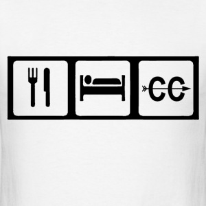 Eat, Sleep, Cross Country T-Shirts - Men's T-Shirt