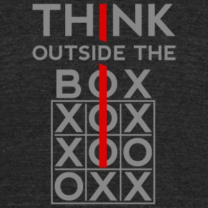 Think Outside The Box T-Shirts - Unisex Tri-Blend T-Shirt by American Apparel
