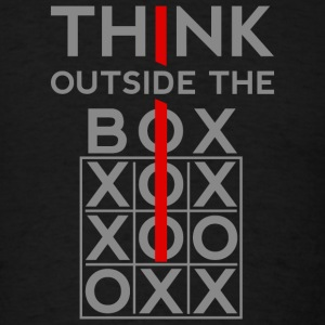 Think Outside The Box T-Shirts - Men's T-Shirt