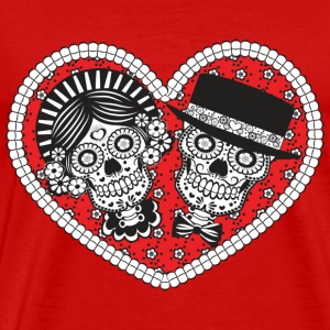 Sugar Skull Couple - Men's Premium T-Shirt