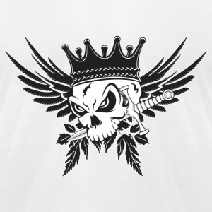 King Skull with Dagger - Men's T-Shirt by American Apparel