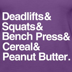 Women's Tank: Deadlifts Squats Bench Press Cereal