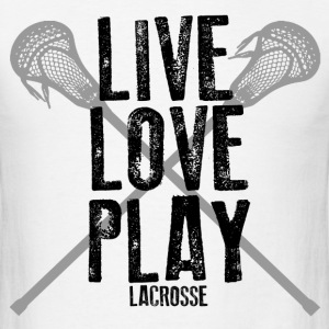 Live, Love, Play Lacrosse T-Shirts - Men's T-Shirt