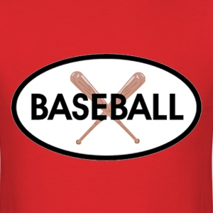Baseball Oval T-Shirts - Men's T-Shirt