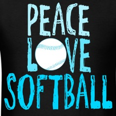 Peace, Love, Softball T-Shirts