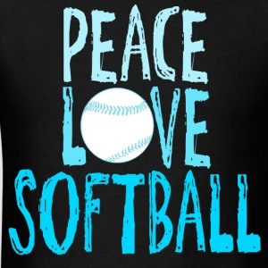 Peace, Love, Softball T-Shirts - Men's T-Shirt